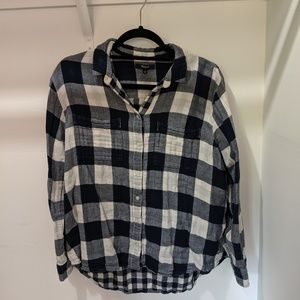 Madewell Flannel Blue-checked Shirt